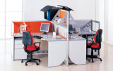 Station de travail de bureau élégant parition de bois pour 4 personnes (SZ-WST835)