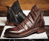 O inverno Mens Suede Desert Boots Sapatos de salto raso, botinas italiana de moda