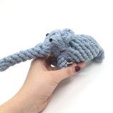 코끼리 모양 질 애완견 밧줄 장난감 씹기