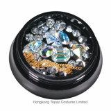 Cordões cintilantes encantos Rhinestones coloridos carcaça metálica Gems decorações Arte Unha Oco (NR-23)