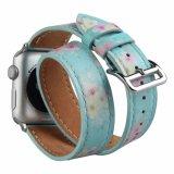 Doppio cinturino stampato OEM del cuoio genuino di giro per il cinturino di vigilanza del Apple