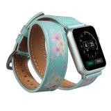 Appleの時計バンドのためのOEMによって印刷される二重旅行の本革の時計バンド