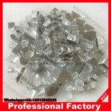 Granello di vetro del fuoco in platino metallico