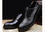 De Schoenen van Oxford van de Luxe van de Manier van het Leer van de Koe van de Mensen van Outsole van het Leer van de kwaliteit