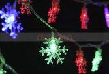 20/50/100/200 LEIDENE van Kerstmis van het Patroon van de LEIDENE 2.5m 5m 10m Licht van de Ornamenten van de Mooie MultiKleur MultiDecoratie van de Sneeuwvlok