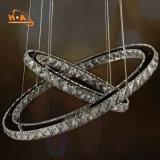 大きいリングの中国からの水晶シャンデリアLED吊り下げ式ライト