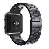 Cinta de relógio de aço inoxidável para Fitbit Blaze, Fitbit Three-Link banda metálica para assistir a precinta