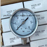 El tubo de Bourdon Manómetro de presión de acero inoxidable