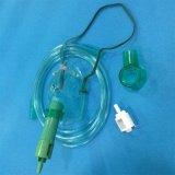 La concentración de oxígeno médico regulable Venturi máscara (verde, el adulto con tubos)