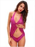 Fashion col en V profond jupes courtes femme lingerie sexy show mamelons