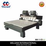 Macchina per incidere di legno di CNC dei 4 assi di rotazione (VCT-2013W-6H)