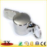 Высококачественные металлические цинкового сплава свистка форму цепочке для ключей и Поднятие сошника