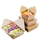 공장 판매 처분할 수 있는 Kraft 종이 포장은 음식 상자를 나른다