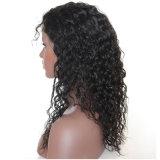 Подгонянные парики шнурка бразильских человеческих волос девственницы курчавые полные