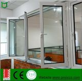 Finestra piegante di profilo di alluminio del materiale da costruzione con vetro