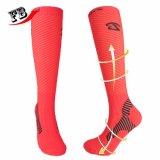Kundenspezifisches Mann-Frauen-Knie-hohe Komprimierung-Socken mit Firmenzeichen