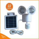 Im Freien Doppelbewegungs-Fühler-Sicherheits-Licht des kopf-22LED Solar