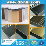 Profilo di alluminio 6063 T5 un grado con colore di legno del grano