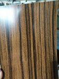 PE/PVDF de grano de madera recubierto bobina de aluminio para muro cortina de hojas
