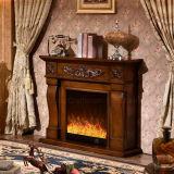 Sculpture moderne simple approuvée en CE chauffant les meubles électriques d'hôtel de cheminée