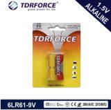 9V Batterij van de Droge Batterij (van de 6LR61) Cel Non-Rechargeable Alkalische met BSCI