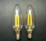 서리 유리제 C35 램프 LED 가벼운 Edison LED 필라멘트 전구 초 E14