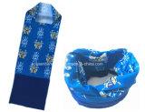 I prodotti dell'OEM della fabbrica della Cina hanno personalizzato la sciarpa polare di Fleeceneck del pattino blu di Microfiber della stampa di disegno tubolare