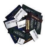 La ropa de encargo personalizó escrituras de la etiqueta de costura tejidas