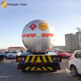 China Fabricação do reboque de eixo triplo trailer do depósito de GPL