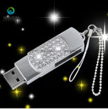 O logotipo personalizado Venda Quente Crystal Disco Flash Drive USB 2.0