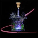 Стеклянный куря кальян чайника с вспомогательным оборудованием СИД Shisha