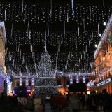 Lumières de Noël durables de douche de météore