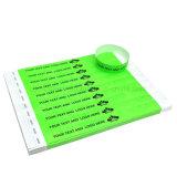 Bracelete/Wristband programáveis Printable do papel RFID da fonte da fábrica