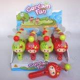 おもちゃおよびキャンデーのキャンデーが付いている小型漫画のファンおもちゃ