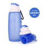 320 мл LFGB/FDA одобрил портативный складной силиконовый спорта бутылка воды