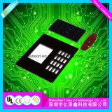Relieve de poliéster personalizadas cúpula metálica Pulse el botón interruptor de membrana de instrumentos