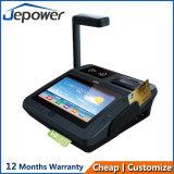 Position androïde de tablette de lecteur de NFC avec le coup de carte d'imprimante thermique et de côté