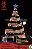 Árbol del espiral del adorno de la Navidad del LED para la iluminación del árbol de la decoración de la Navidad