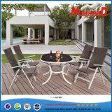 Garten-ovaler Tisch und faltbarer PET Rattan-Stuhl