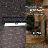 太陽軽い屋外の62のLEDsの無線動きセンサーライトテラス、デッキ、パス、庭のための耐候性がある機密保護の照明