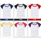 Kundenspezifisches Form-T-Shirt in der Kind-Größe, dem Firmenzeichen, dem Material und den Farben
