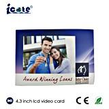 Carte de brochure de /Video de carte vidéo d'affichage à cristaux liquides de 4.3 pouces pour le cadeau promotionnel d'affaires
