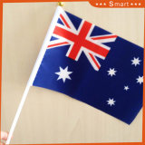Size 주문 75D Polyester Cheap All 국가 National Flag Hand Waving Flag