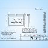 4.3 Pixel LCD-Bildschirmanzeige SSD1963 des Zoll-TFT 480X272