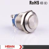 Ce Hban RoHS (19mm) de haut en métal de borne à vis ronde Interrupteur à bouton poussoir