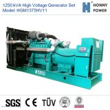 Hochspannungsset des generator-1250kVA 10-11kv mit Googol Motor 50Hz
