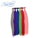 Arrvial 새로운 도매 다채로운 자주색 똑바른 Remy Virgin 사람의 모발