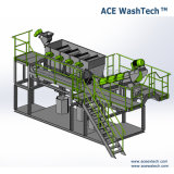 Het nieuwste Systeem van het Recycling van de Vlok PP/PE van het Ontwerp Professionele