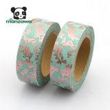 cinta de Washi de la hoja de oro del diseño de las vides 10m para la decoración de enmascarado