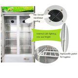 La puerta de cristal Mostrar congeladores beber leche fármaco nevera LC/S-1000HK